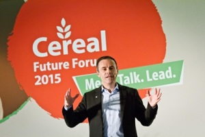 Liam Condon, CEO of Bayer CropScience, at the Cereal Future Forum in Brussels, Belgium; photo credit: Bayer CropScience