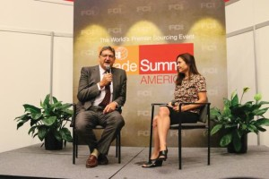 FCI Managing Editor Jackie Pucci interviews AMVAC COO Bob Trogele during the FCI Trade Summit.