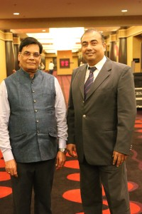 K.N. Singh (left), VP- International Marketing & Development, and N.P. Nair, VP - International Sales