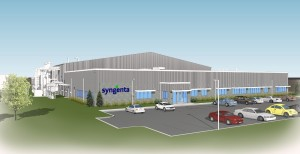 Architectural rendering of the planned structure; credit: Syngenta