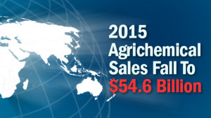2015 Agrichemical Sales Fall To $54.6 Billion