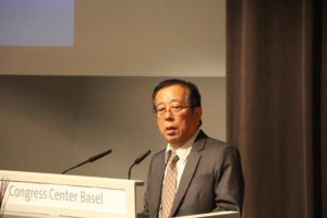 """Tetsuo """"Tommy"""" Wada, consult to Arysta Lifescience Japan, updates attendees on the use of biocontrols in IPM in Japan."""