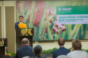 BASF Opens in Cambodia, to Launch Crop Protection Products